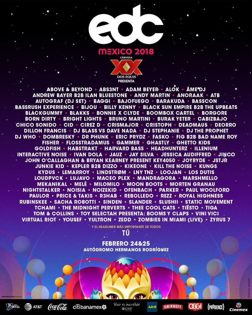 Zedd, Deadmau5, Above & Beyond And Marshmello Top EDC Mexico 2018