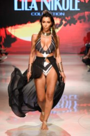MIAMI BEACH, FL - JULY 15: A model walks the runway for Lila Nikole at Miami Swim Week powered by Art Hearts Fashion Swim/Resort 2018/19 at Faena Forum on July 15, 2018 in Miami Beach, Florida. (Photo by Arun Nevader/Getty Images for Art Hearts Fashion)