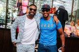 DJ Irie and Anthony Mackie are all smiles at Turn Down For Brunch during The 14th Annual Irie Weekend benefiting The Irie Foundation