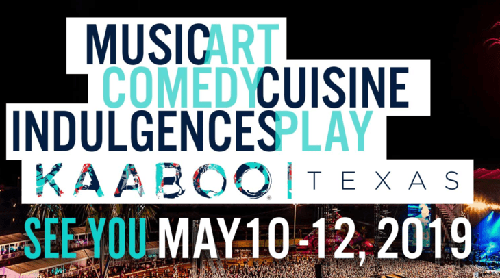 7 THINGS NOT TO MISS AT THE FIRST EVER KAABOO TEXAS, MAY 10-12, 2019