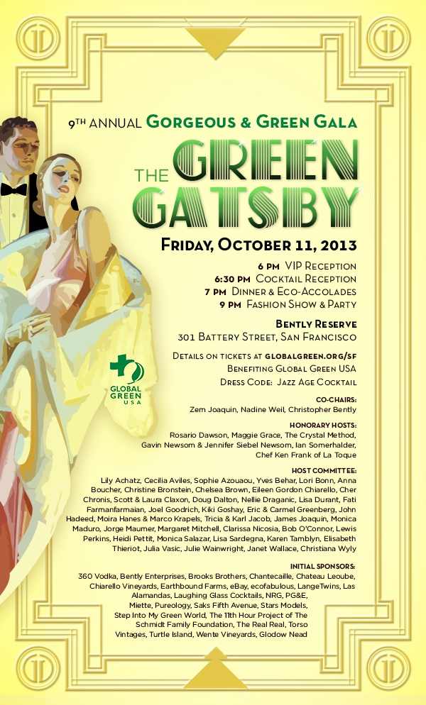 Global Green USA Announces 9th Annual Gorgeous & Green Gala in San Francisco