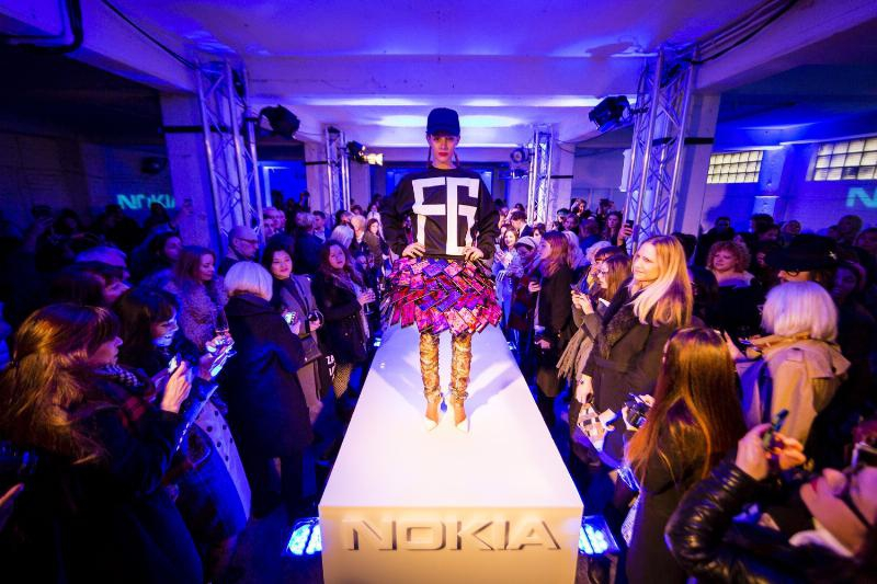 Designers Fyodor Golan Combine Nokia Smartphones to Make a Super Smart Skirt That Changes Around You