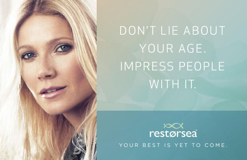 New Restorsea Ad Campaign, Featuring Gwyneth Paltrow Challenges How Women View Aging