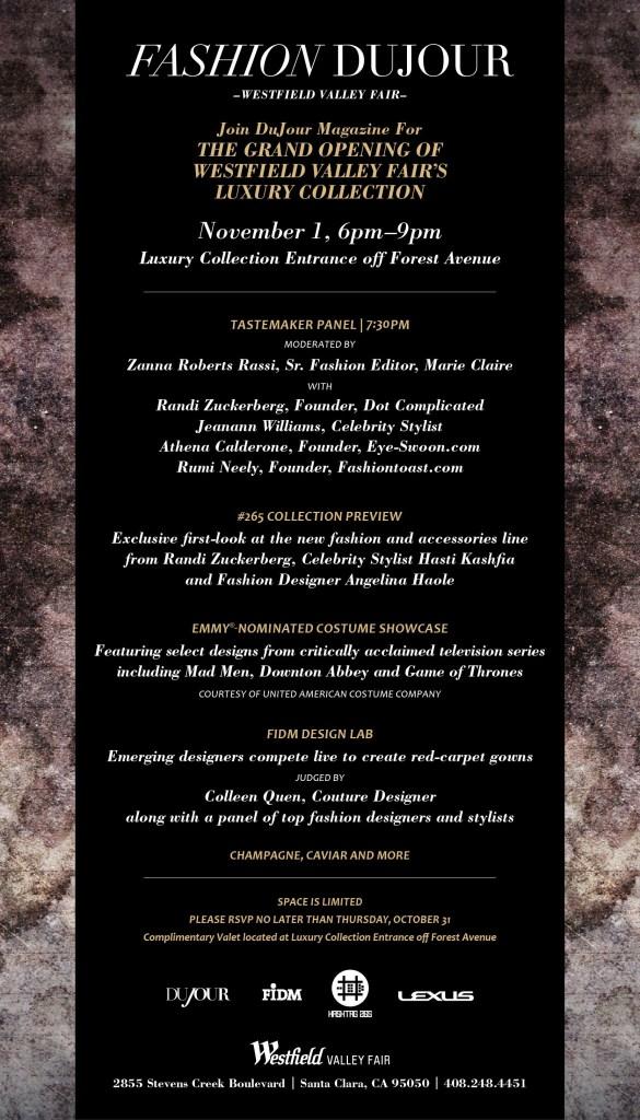 DuJour Magazine Event at Westfield Mall – 11/1
