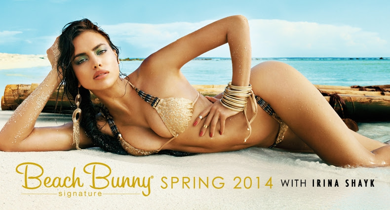 Irina Shayk For Beach Bunny Spring 2014