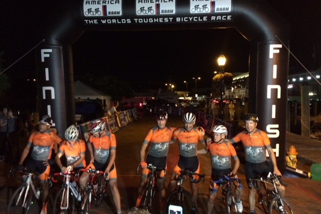 Team FSHD Cycling at the Finish Line