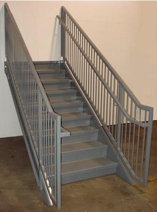 Ibc Prefab Steel Stairways | Pre Made Stair Railings | Aluminum Railing | Wrought Iron Railing | Deck Railing | Cable Railing Systems | Metal