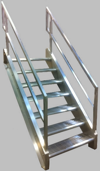 Welded Aluminum Prefab Stairways Galvanized Stairs Industrial | Prefabricated Exterior Metal Stairs | Stair Case | Stairways | Aluminum | Wrought Iron | Stair Treads