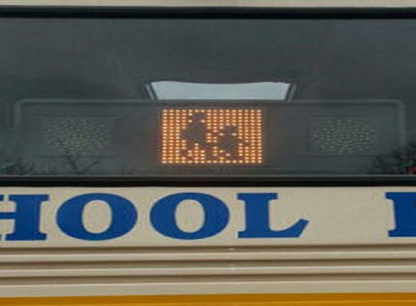 school bus warning lights led display boards fsl electronics