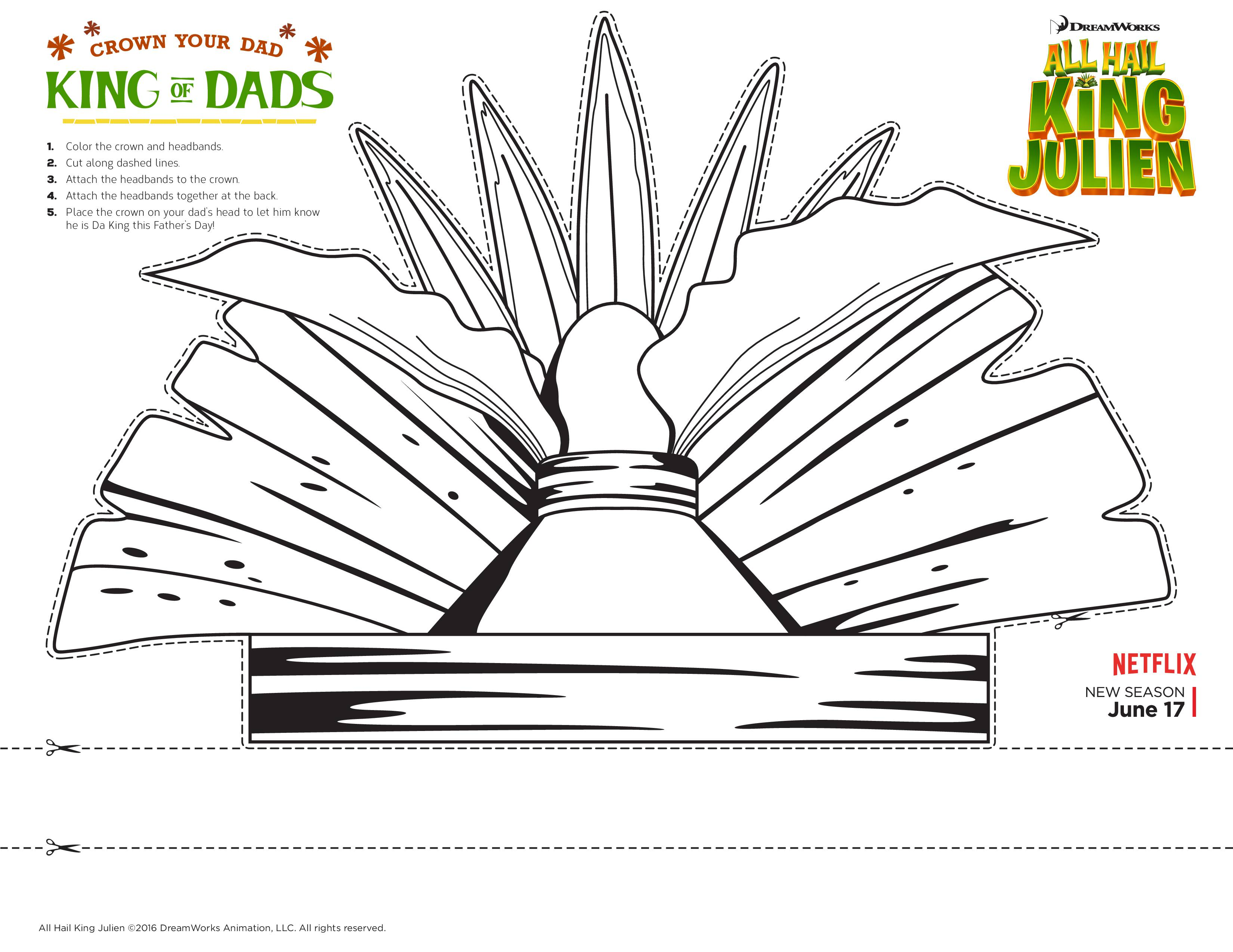 Celebrate Father S Day With A Printable Crown From All Hail King Julien Fathersday