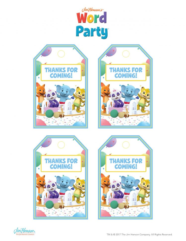 Word Party Birthday Party Printables
