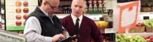men in grocery store