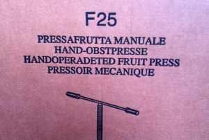 Jag har skaffat en pressafrutta manuale.