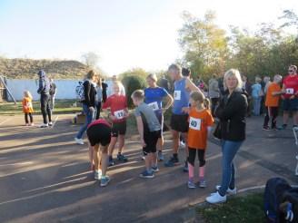 Läufer und Zuschauer