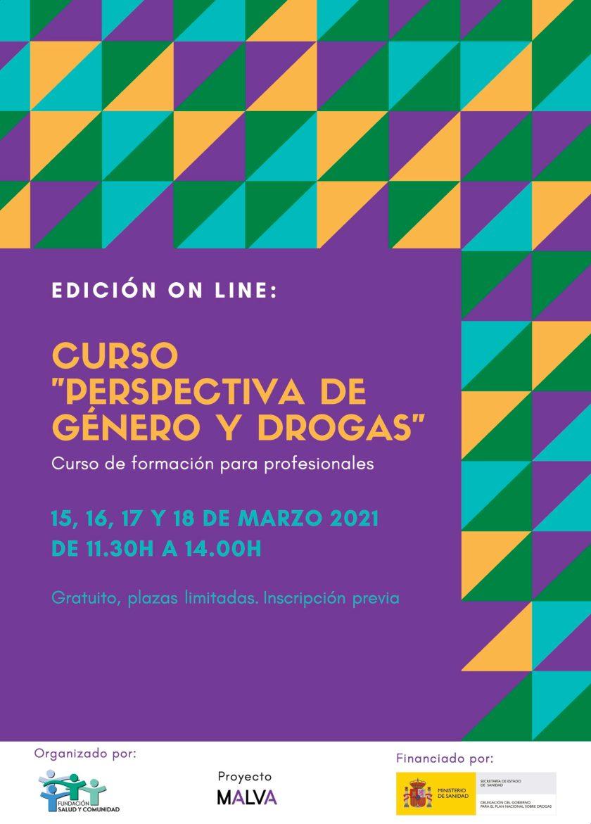 """El Proyecto Malva de FSC organiza una nueva edición online del Curso """"Perspectiva de género y drogas"""""""