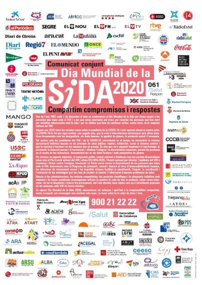 FSC se une al Comunicado conjunto en Cataluña por el Día Mundial del Sida 2020 compartiendo compromisos y respuestas frente al estigma y la discriminación