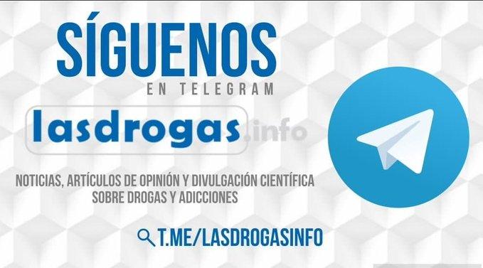 Lasdrogas.info estrena un canal de Telegram para mayor difusión de las publicaciones de su portal de noticias
