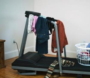Don't let your exercise equipment become your clothes hanger, remember to use it!