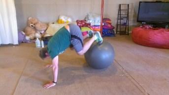 Craig exercising at home