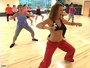 An example of a zumba exercise
