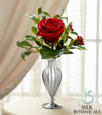Jane Seymour Silk Botanicals Christmas Rose in Red