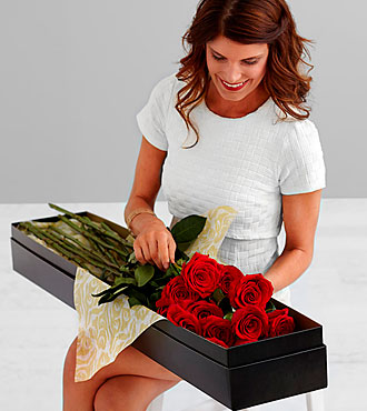 Ultimate Rose Bouquet - 12 Stems, 3-Foot Roses - No Vase