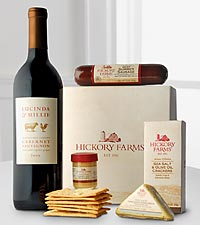 Festive Holiday Cabernet & Hickory Farms® Gourmet Gift Set