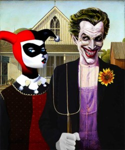 american Gothic parody joker and harley quinn 5 stars phistars humor