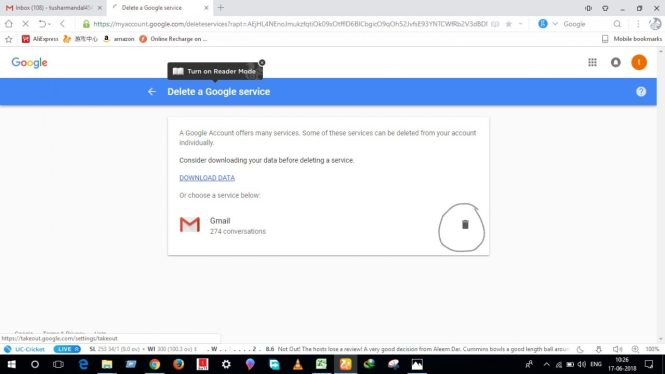 Delete Gmail Account Permanently