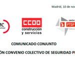 COMUNICADO CONJUNTO NEGOCIACIÓN CONVENIO COLECTIVO DE SEGURIDAD PRIVADA