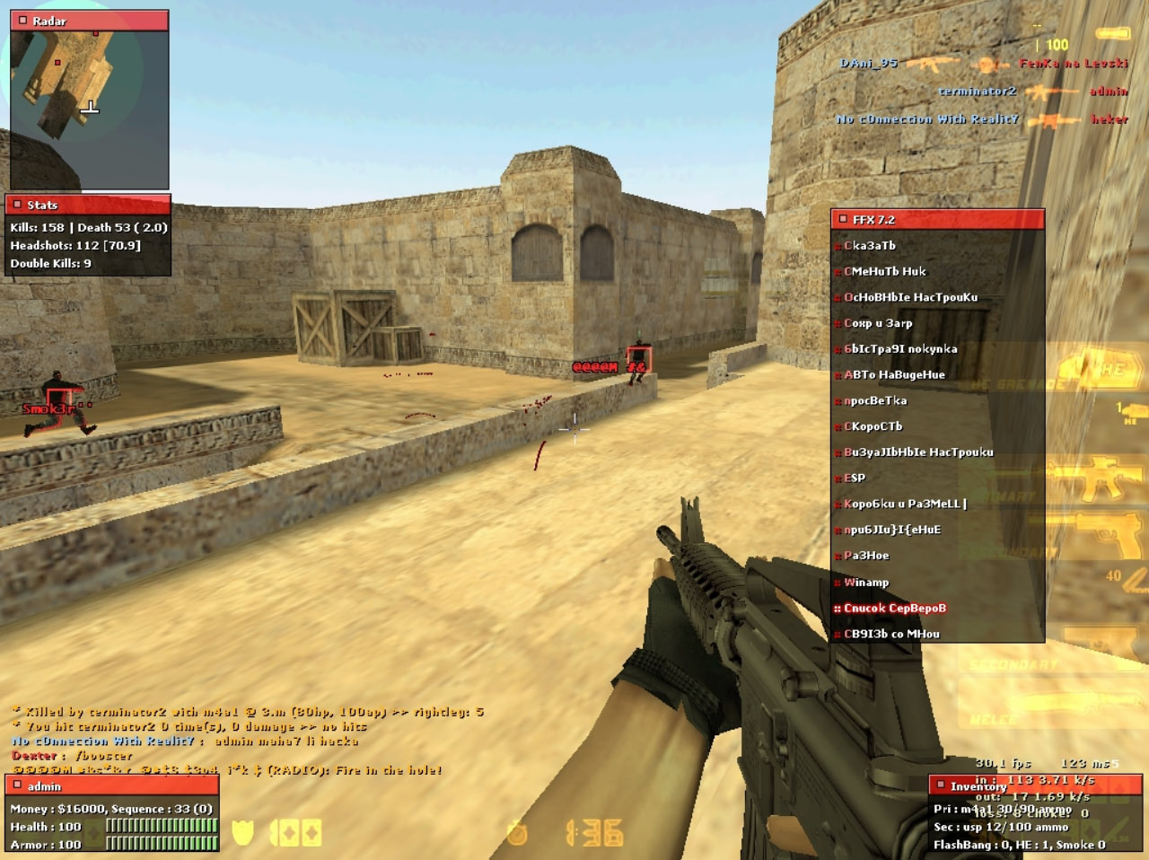 Download Fighter FX 72 Hack For CS 16
