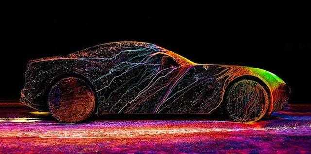 Glowing Painted Ferrari By Oefner
