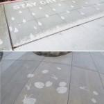 Illustrations on Sidewalks Appear When Raining_3