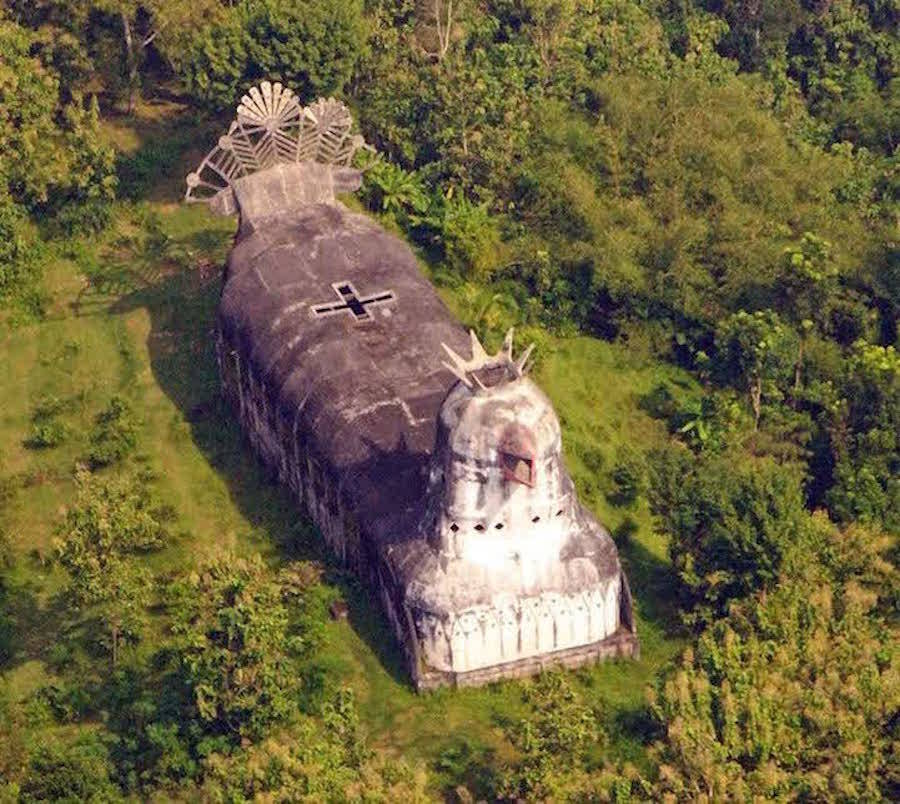 Abandoned Indonesian Church Shaped like a Chicken   Inspire Me!