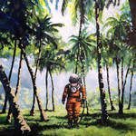 Nice Paintings of Astronauts in Diverse Situations-9