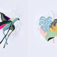 Colorful Compositions of Cut Paper