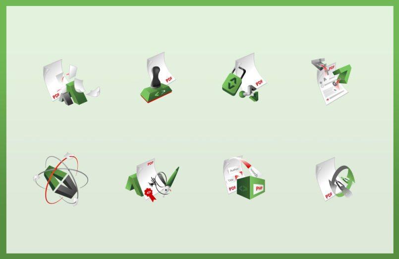 Verschiedene Icons für die Firma Setasign