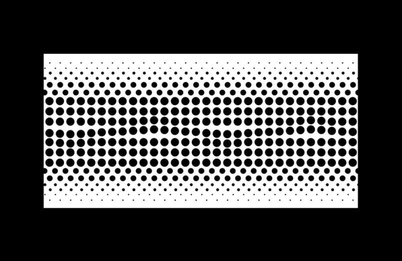 Wallpaper mit optischer Täuschung: Schwarzes Punktmuster bildet Wellen