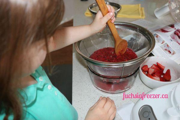 Stirring the Berry Mixture