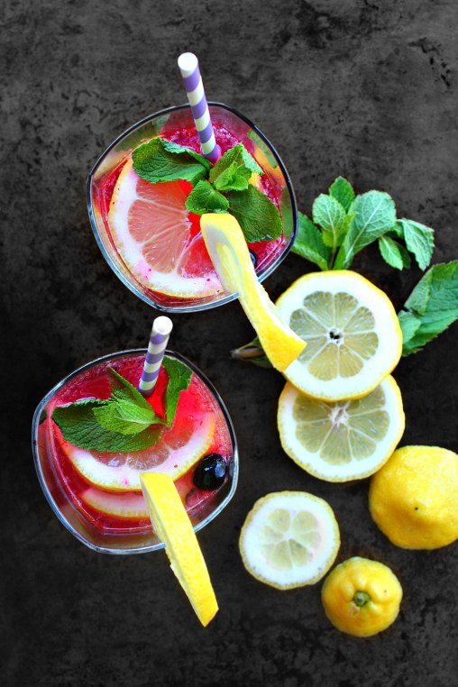 Blueberry Lemon Sangria