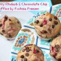 Strawberry Rhubarb & Chocolate Chips Muffins