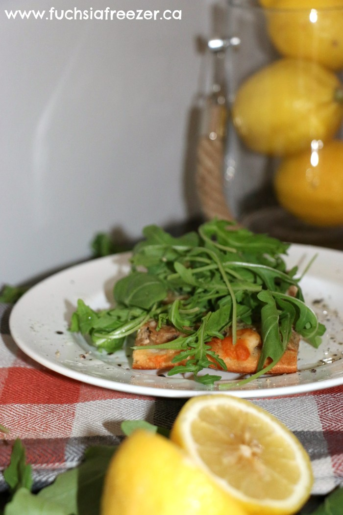 Tuna Flatbread Served