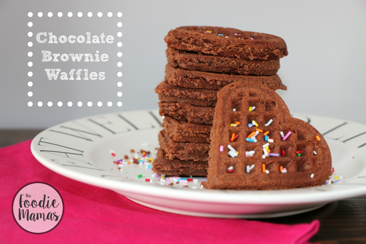 Chocolate Brownie Waffles #FoodieMamas