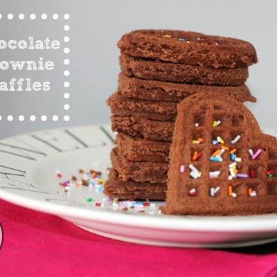 Chocolate Brownie Waffles #FoodieMamas