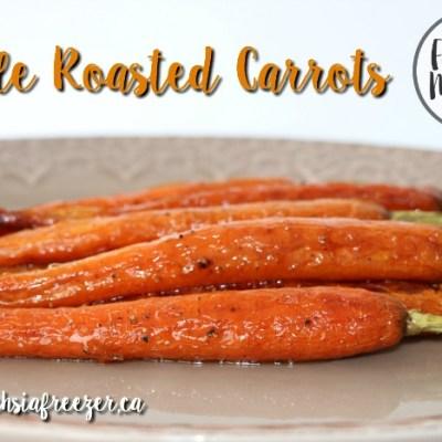 Maple Roasted Carrots #FoodieMamas