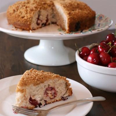 Cherry Crumb Cake #FoodieMamas