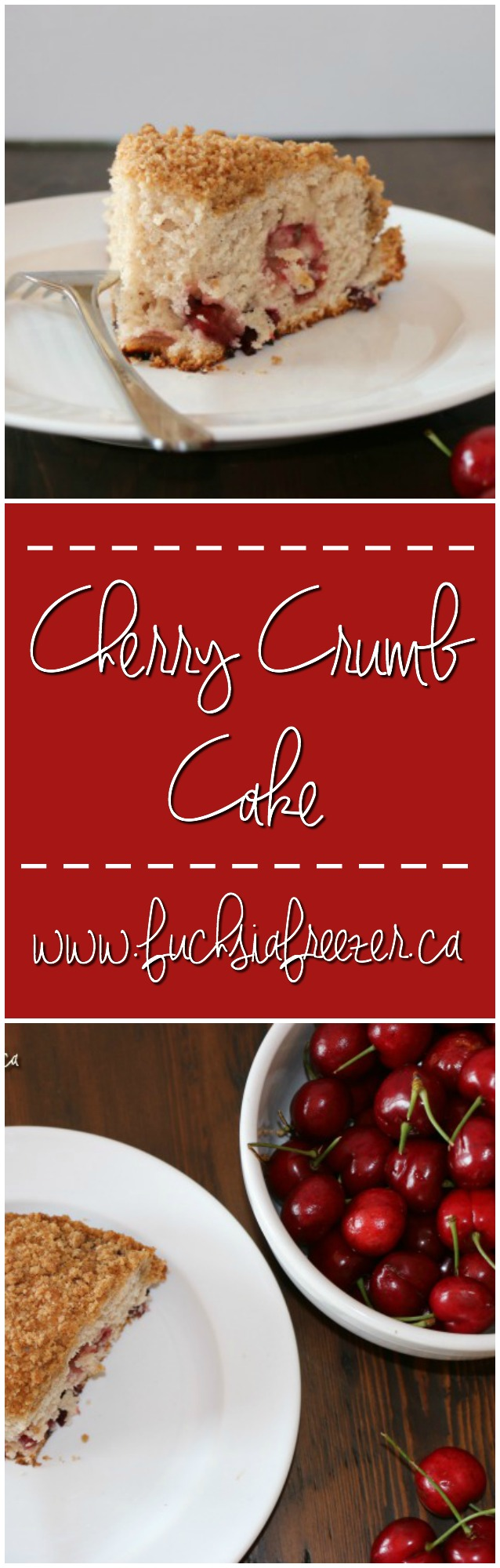 Delicious Cherry Crumb Cake. Take a moment for yourself and enjoy this sweet treat with a cup of coffee or tea today!