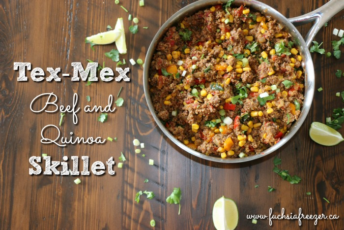 Tex-Mex Beef & Quinoa Skillet is an easy and delicious way to get a healthy meal on the table in under 30 minutes! At only 5 SmartPoints per serving, your family will love this dish, and you can rest easy that you're feeling your body with quality!