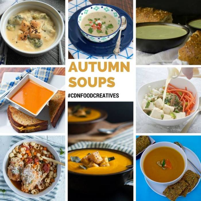 Autumn Soups from some amazing food bloggers! Including fantastic Lighter Potato Leek Soup, Chipotle Sweet Potato Soup, and Roasted Red Pepper and Tomato Soup just to name a few… click to keep warm!
