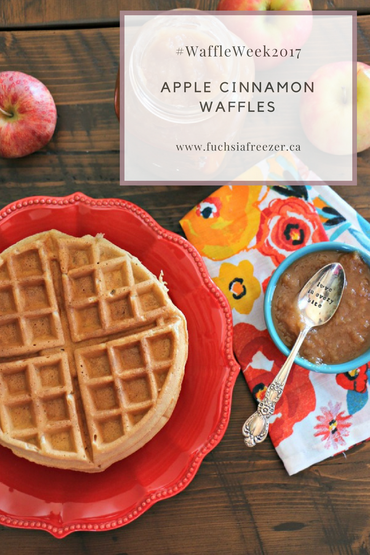 Apple Cinnamon Waffles will help celebrate the fall season perfectly! Easy to make, and perfect to freeze, these will be a hit with your family!